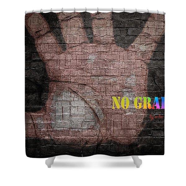 No Graffiti Shower Curtain