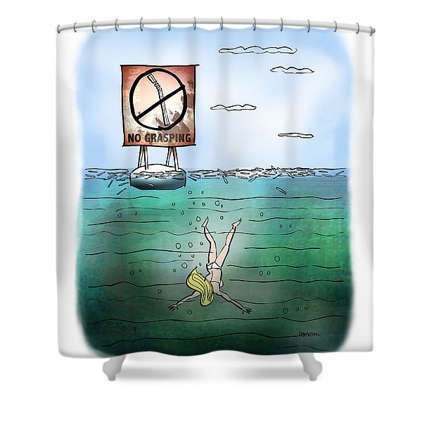 No Grasping Shower Curtain