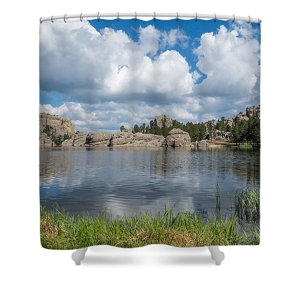 Shower Curtain featuring the photograph Sylvan Lake South Dakota by Patti Deters