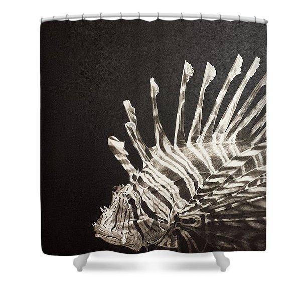 No Lion Shower Curtain