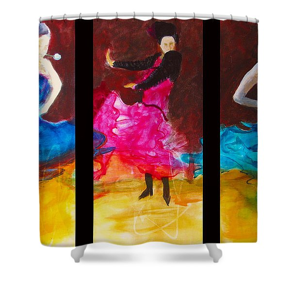 No Volre  Triptych Shower Curtain