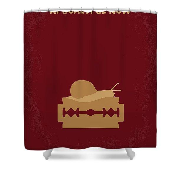 No006 My Apocalypse Now Minimal Movie Poster Shower Curtain