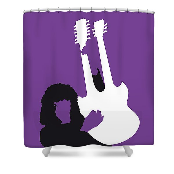 No011 My Led Zeppelin Minimal Music Poster Shower Curtain