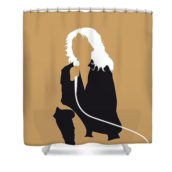 No030 My Blondie Minimal Music Poster Shower Curtain