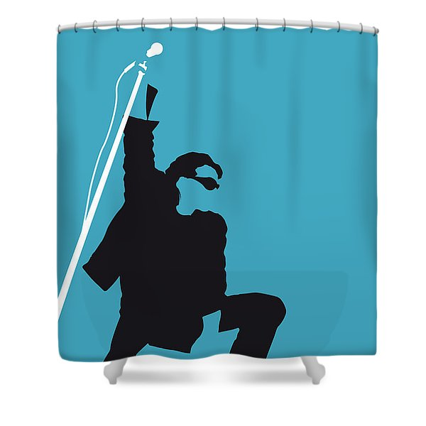 No035 My U2 Minimal Music Poster Shower Curtain