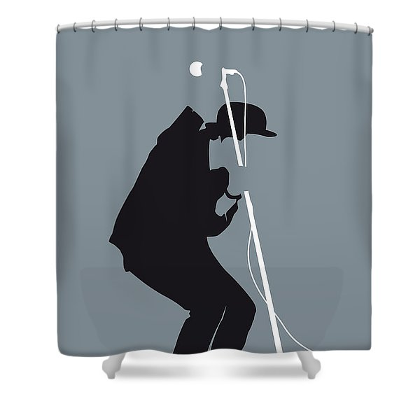 No037 My Tom Waits Minimal Music Poster Shower Curtain