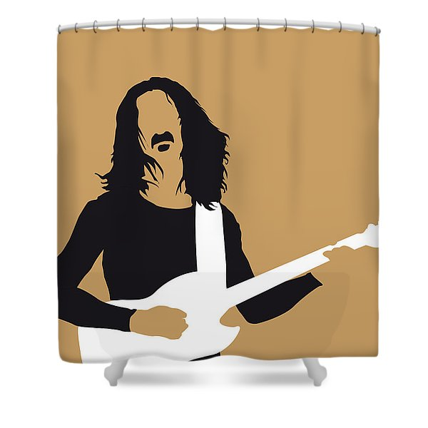 No040 My Frank Zappa Minimal Music Poster Shower Curtain