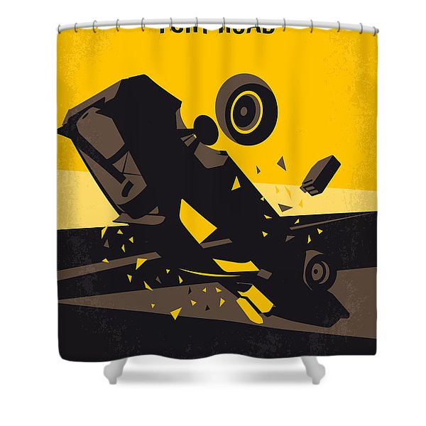 No051 My Mad Max 4 Fury Road Minimal Movie Poster Shower Curtain