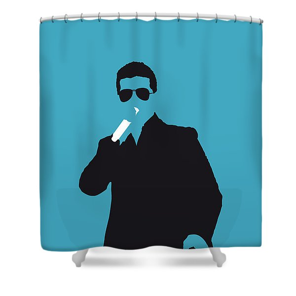 No055 My Robin Thicke Minimal Music Poster Shower Curtain