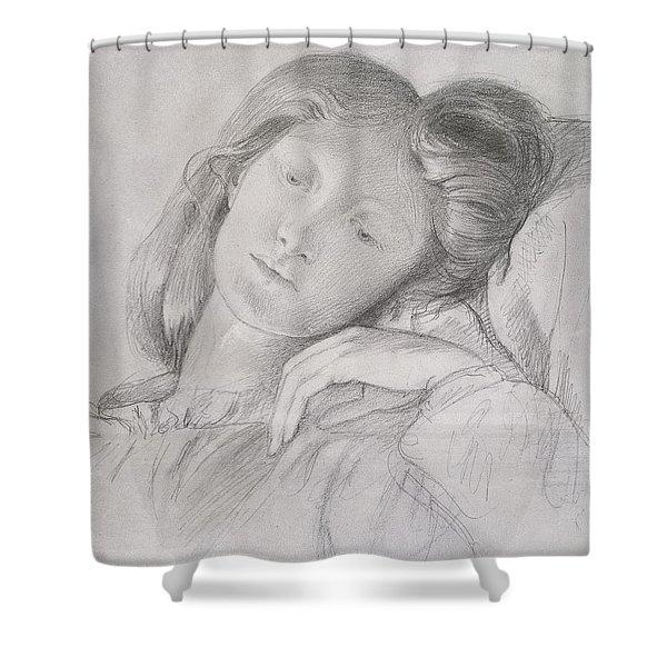 Elizabeth Siddal, Circa 1860 Shower Curtain