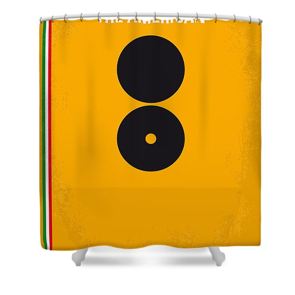 No088 My The American Minimal Movie Poster Shower Curtain