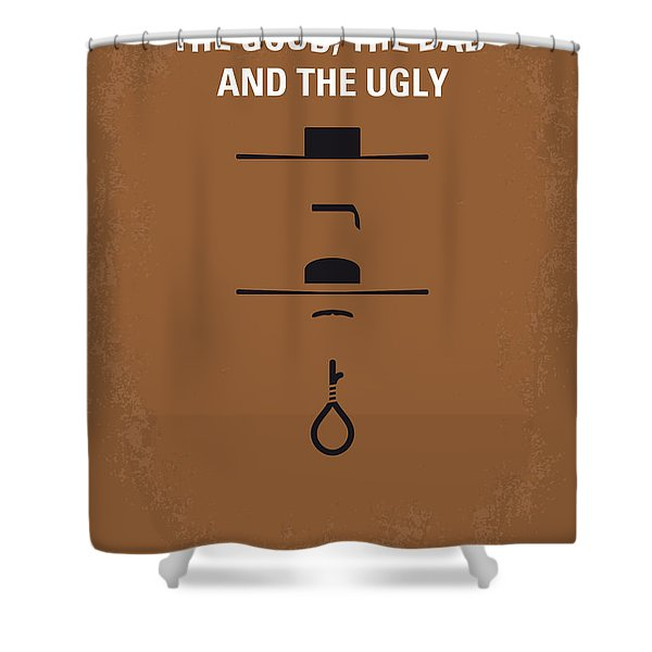 No090 My The Good The Bad The Ugly Minimal Movie Poster Shower Curtain