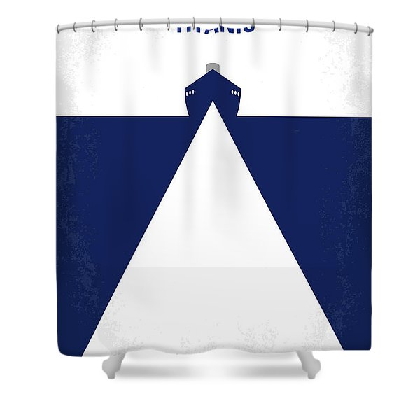 No100 My Titanic Minimal Movie Poster Shower Curtain