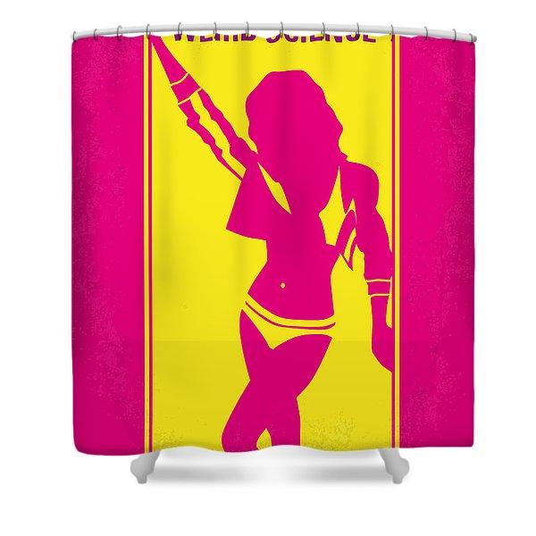 No106 My Weird Science Minimal Movie Poster Shower Curtain