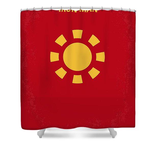 No113 My Iron Man Minimal Movie Poster Shower Curtain