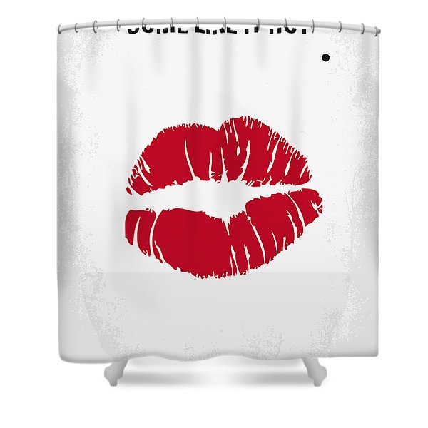 No116 My Some Like It Hot Minimal Movie Poster Shower Curtain
