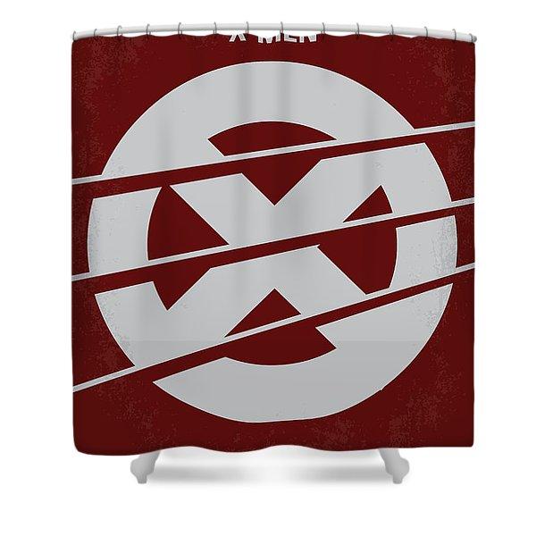 No123 My Xmen Minimal Movie Poster Shower Curtain