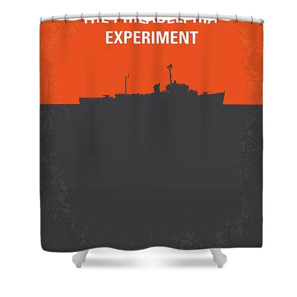 No126 My The Philadelphia Experiment Minimal Movie Poster Shower Curtain