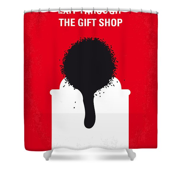 No130 My Exit Through The Gift Shop Minimal Movie Poster Shower Curtain