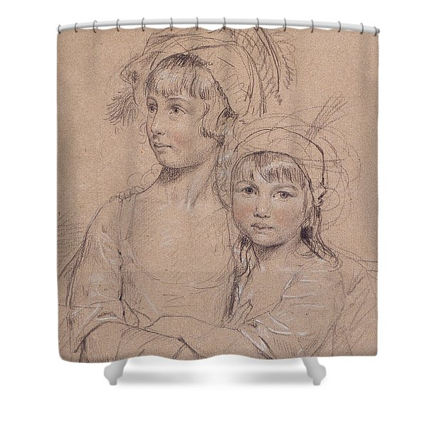 No.1857 The Misses Rigby, The Two Shower Curtain