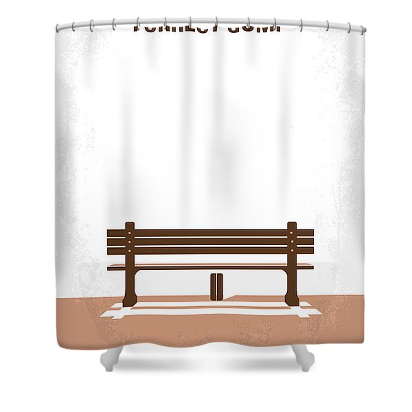 No193 My Forrest Gump Minimal Movie Poster Shower Curtain