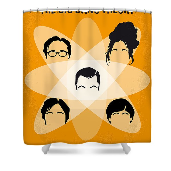 No196 My The Big Bang Theory Minimal Poster Shower Curtain