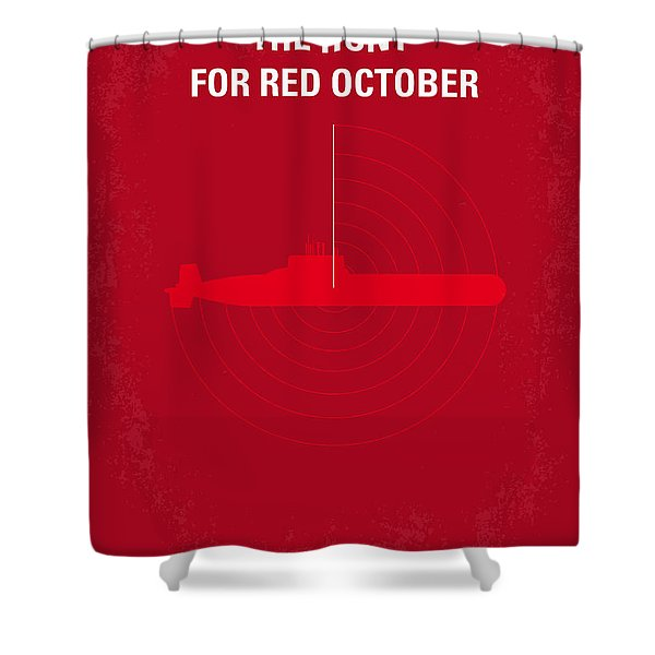 No198 My The Hunt For Red October Minimal Movie Poster Shower Curtain