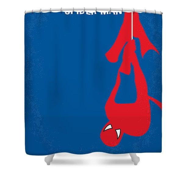 No201 My Spiderman Minimal Movie Poster Shower Curtain