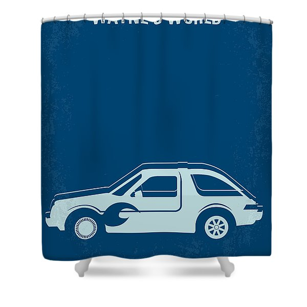 No211 My Waynes World Minimal Movie Poster Shower Curtain