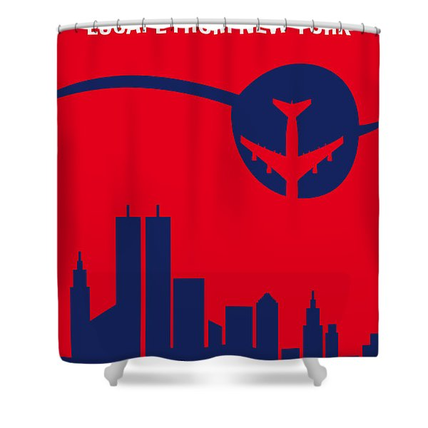 No219 My Escape From New York Minimal Movie Poster Shower Curtain