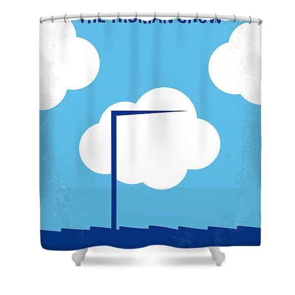 No234 My Truman Show Minimal Movie Poster Shower Curtain