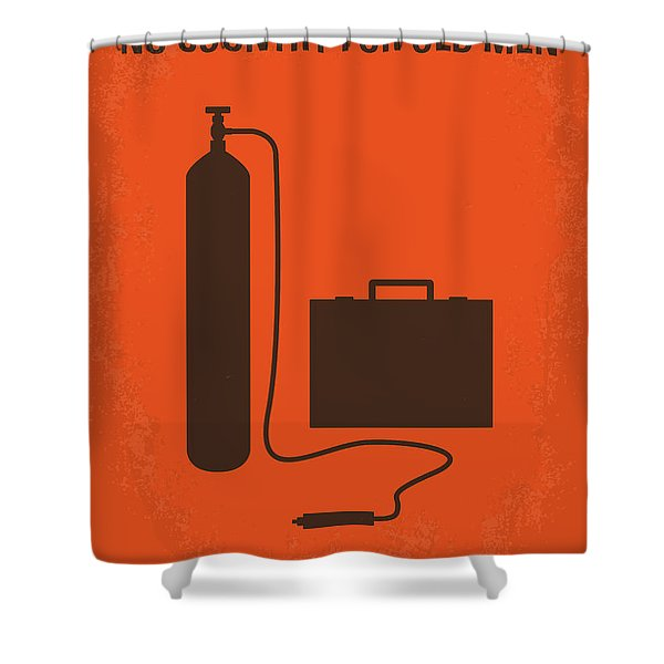 No253 My No Country For Old Men Minimal Movie Poster Shower Curtain