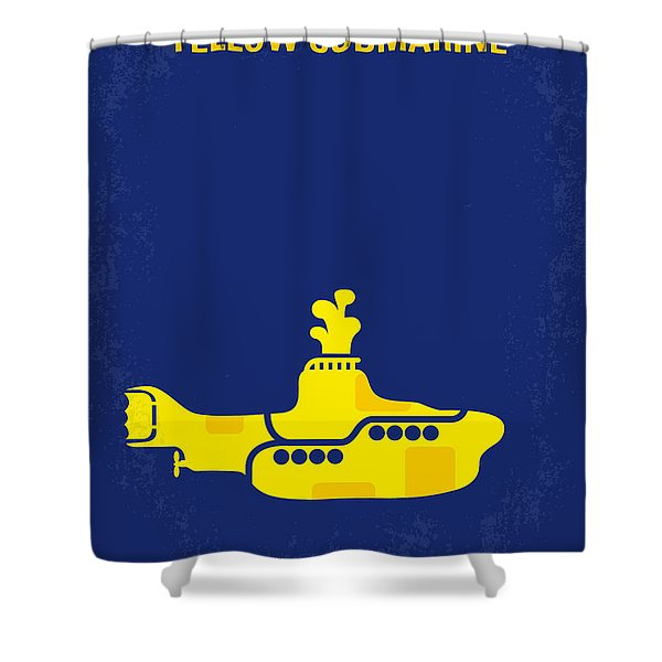 No257 My Yellow Submarine Minimal Movie Poster Shower Curtain