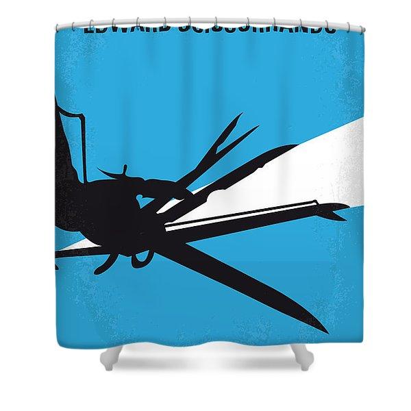 No260 My Scissorhands Minimal Movie Poster Shower Curtain