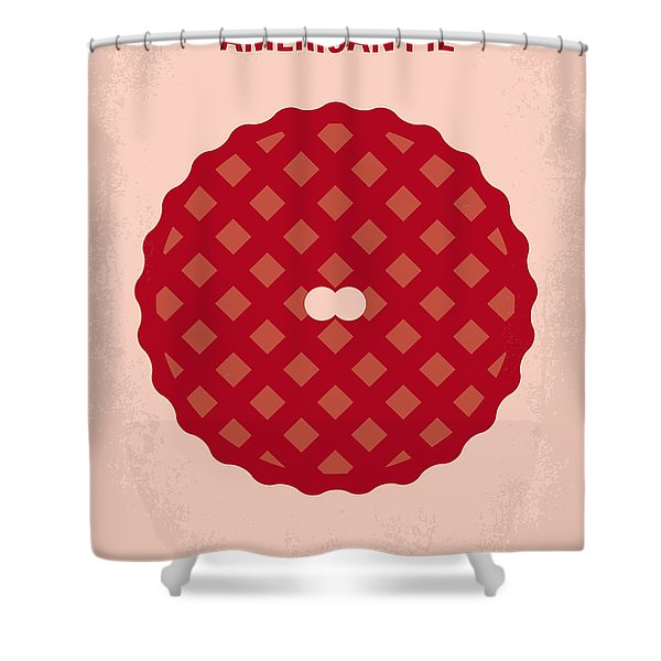 No262 My American Pie Minimal Movie Poster Shower Curtain