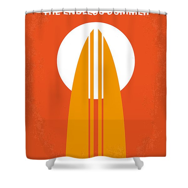 No274 My The Endless Summer Minimal Movie Poster Shower Curtain