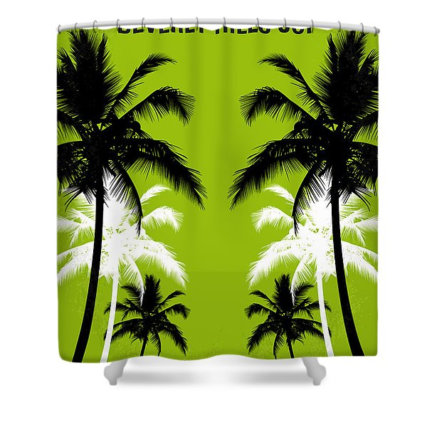 No294 My Beverly Hills Cop Minimal Movie Poster Shower Curtain