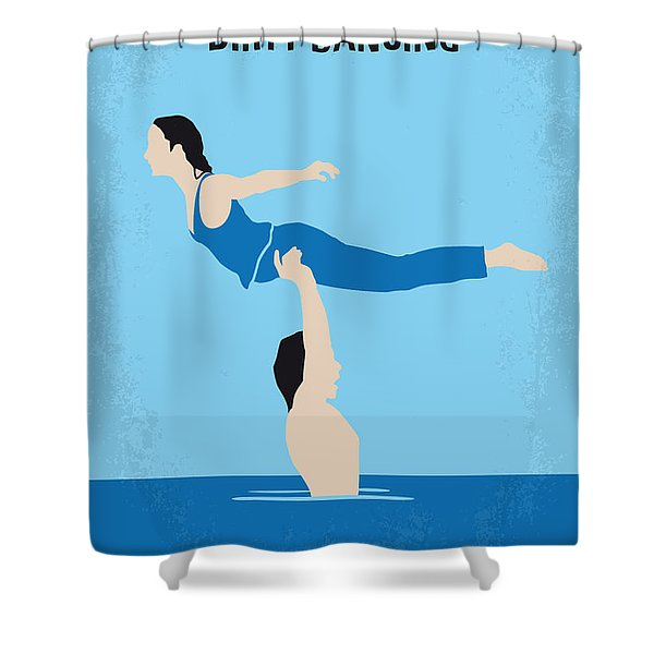 No298 My Dirty Dancing Minimal Movie Poster Shower Curtain