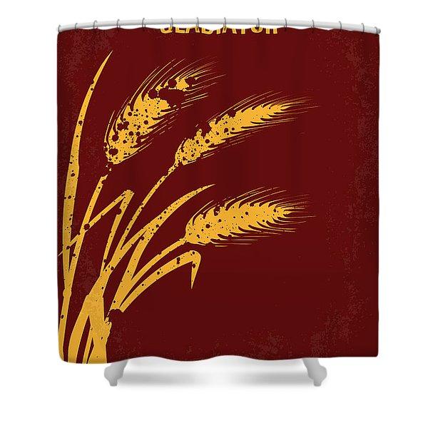 No300 My Gladiator Minimal Movie Poster Shower Curtain