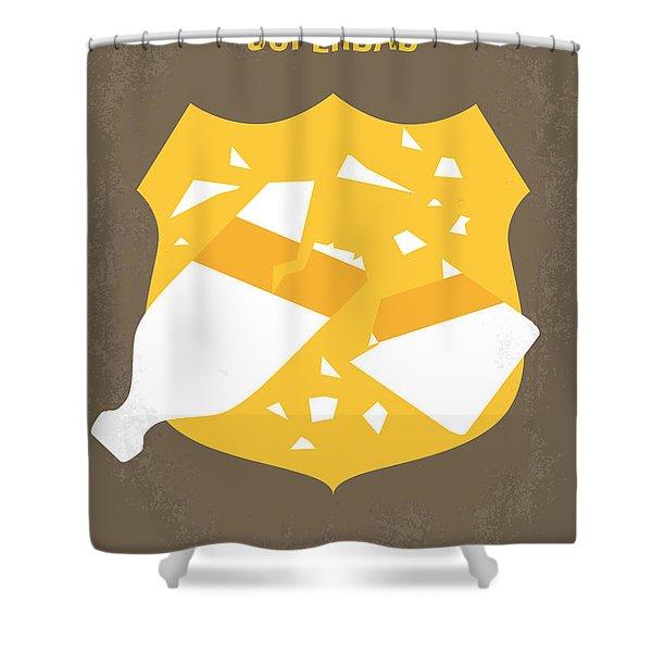 No315 My Superbad Minimal Movie Poster Shower Curtain