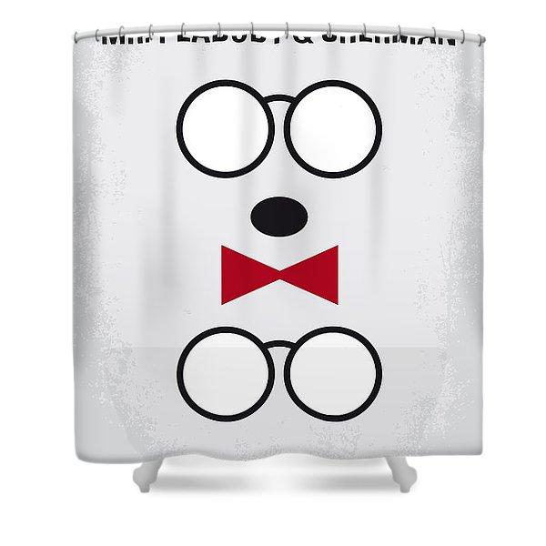 No324 My Mr Peabody Minimal Movie Poster Shower Curtain
