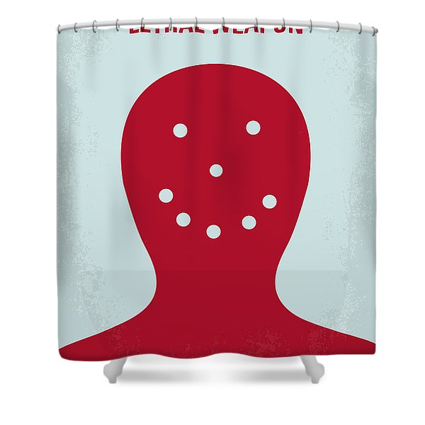No327 My Lethal Weapon Minimal Movie Poster Shower Curtain