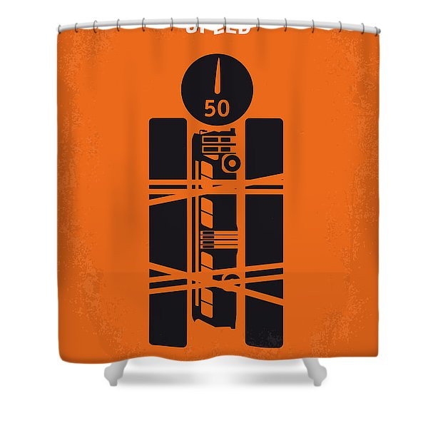 No330 My Speed Minimal Movie Poster Shower Curtain