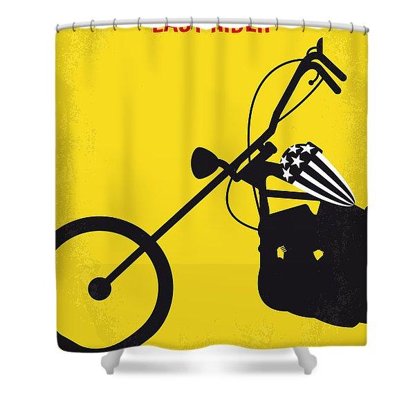 No333 My Easy Rider Minimal Movie Poster Shower Curtain