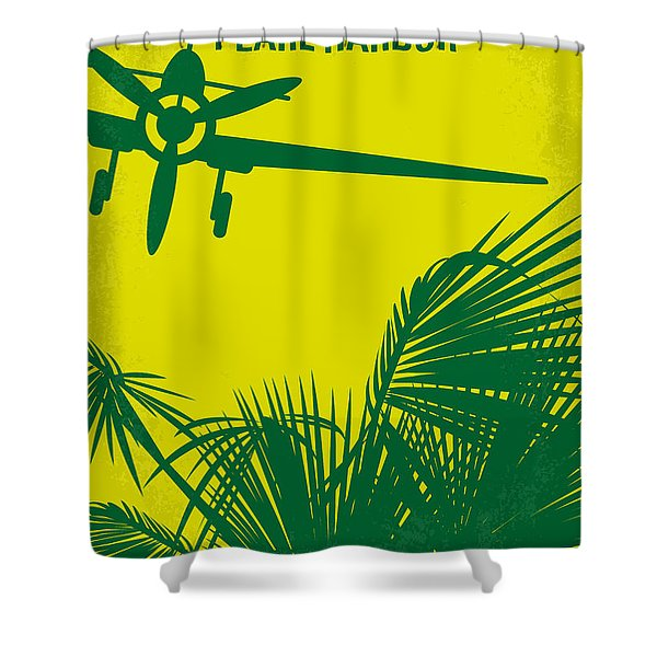 No335 My Pearl Harbor Minimal Movie Poster Shower Curtain