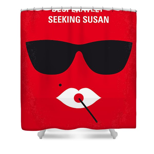 No336 My Desperately Seeking Susan Minimal Movie Poster Shower Curtain
