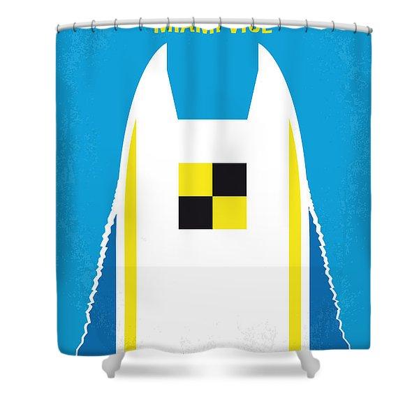 No351 My Miami Vice Minimal Movie Poster Shower Curtain