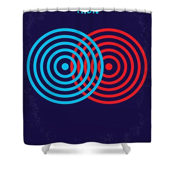 No357 My Tron Minimal Movie Poster Shower Curtain