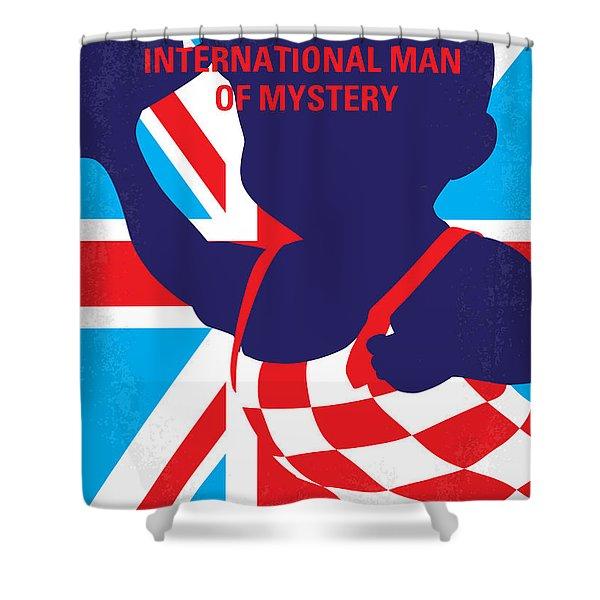 No373 My Austin Powers I Minimal Movie Poster Shower Curtain