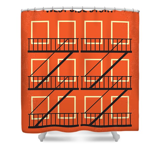 No387 My West Side Story Minimal Movie Poster Shower Curtain